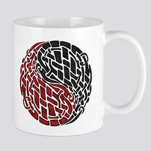 Celtic Knotwork Yin Yang Double Motif Mug